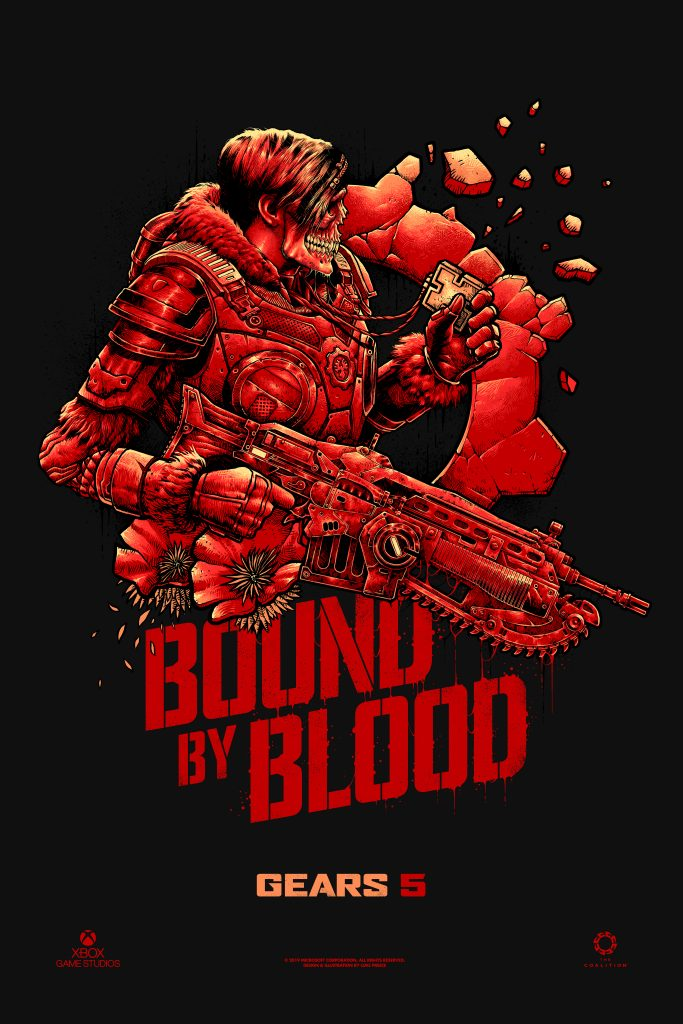 Bound by Blood Poster for Gears 5 by Luke Preece