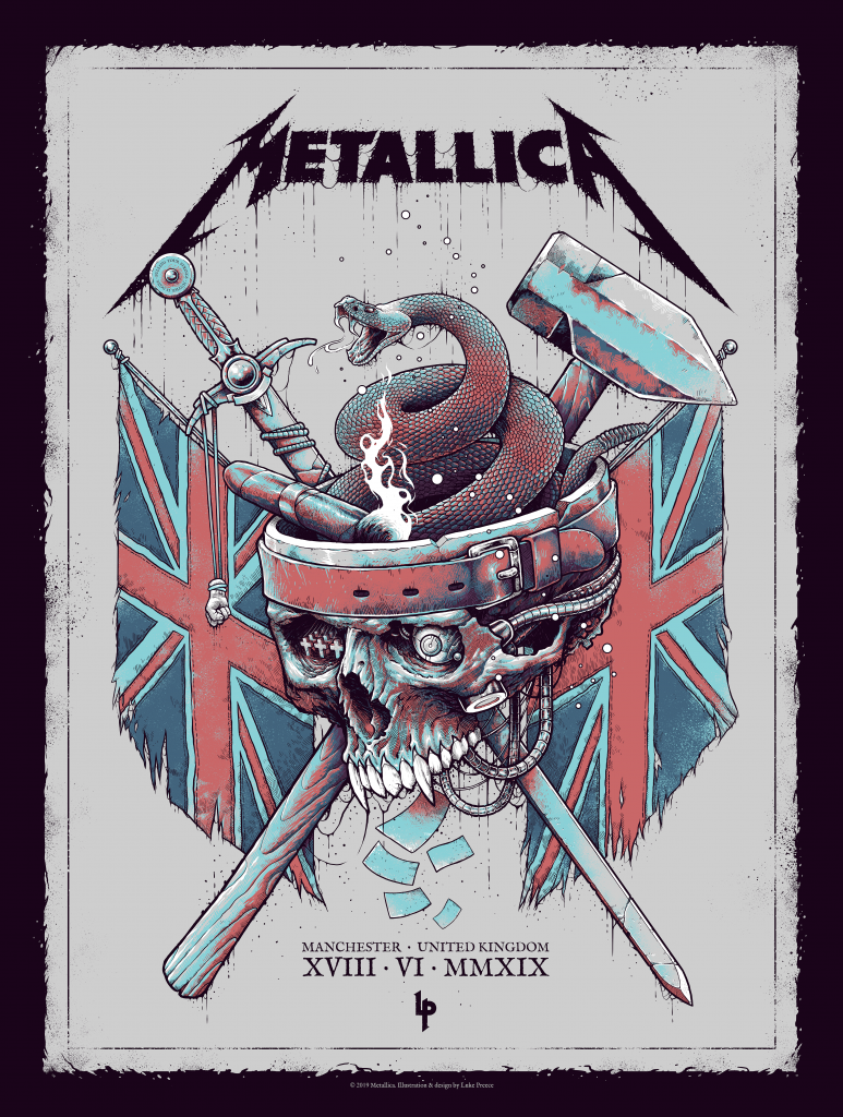 Metallica poster by Luke Preece