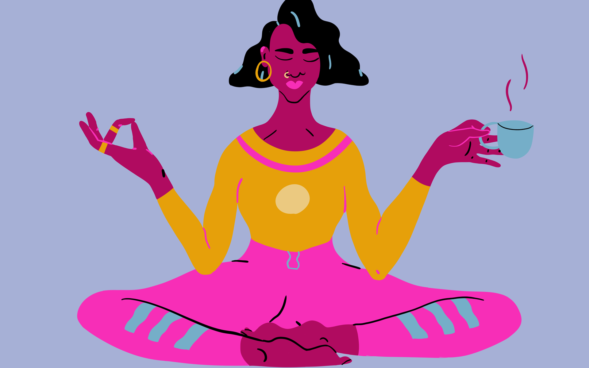 A black woman in a Yoga pose